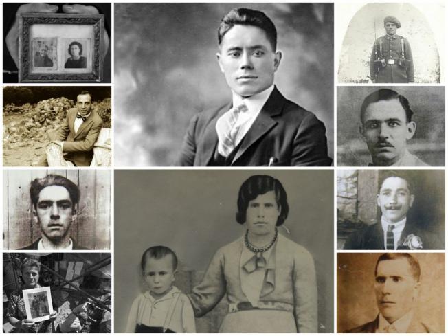 """Las caras de algunas de las """"memorias recuperadas"""" por la ARMH en el Bierzo (Fotos: ARMH)"""